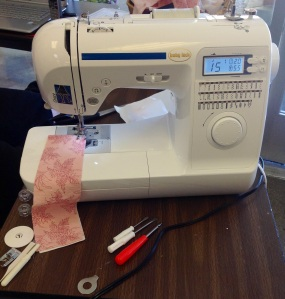 My new sewing machine as a beginner quilter.