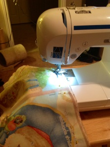 """Most books print an outline around the pages to cut along, allowing you to use that as your guide to sew your book with a 1/4"""" seam."""